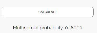 Multinomial distribution example