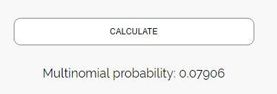Multinomial distribution outcome