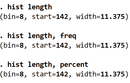 Histogram with bins in Stata