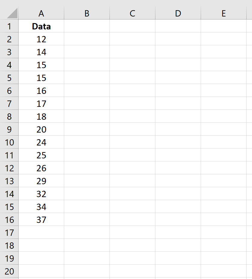 Raw data in Excel in one column