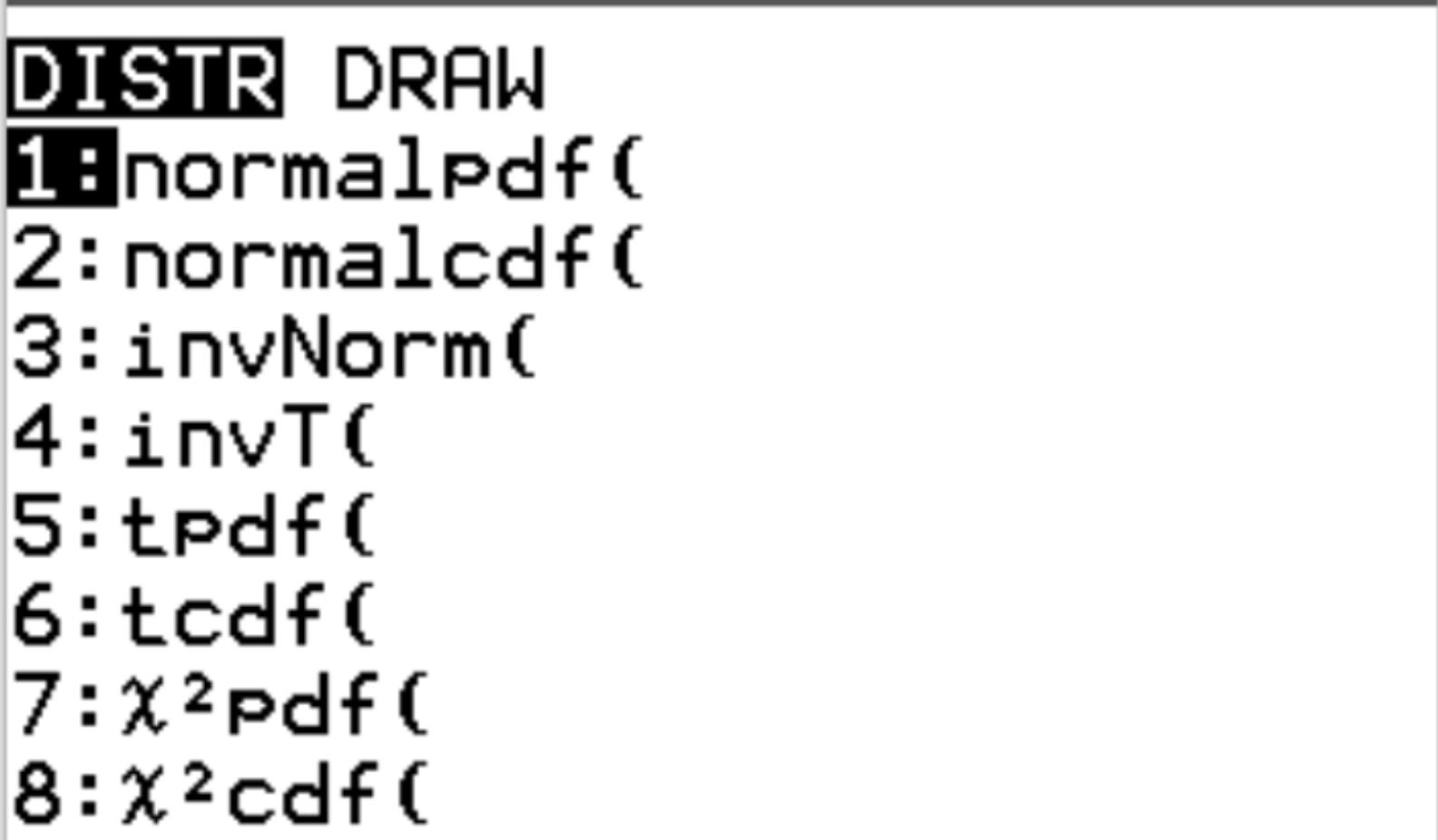Normal probability distribution in TI-84 calculator
