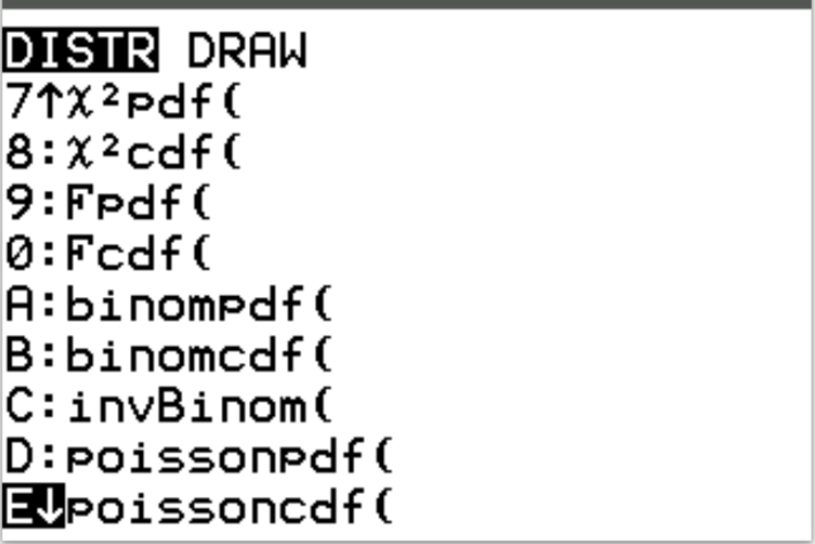 poissonpdf() and poissoncdf() options on a TI-84 calculator