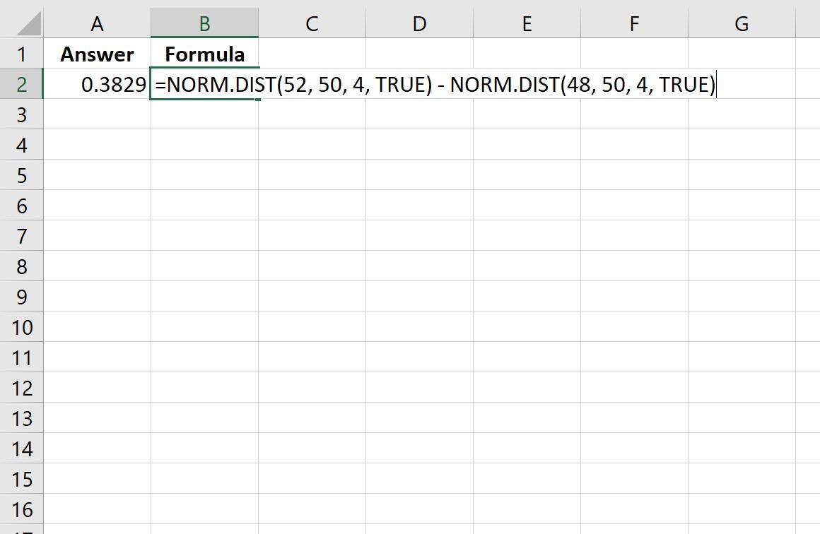 NormalCDF function in Excel