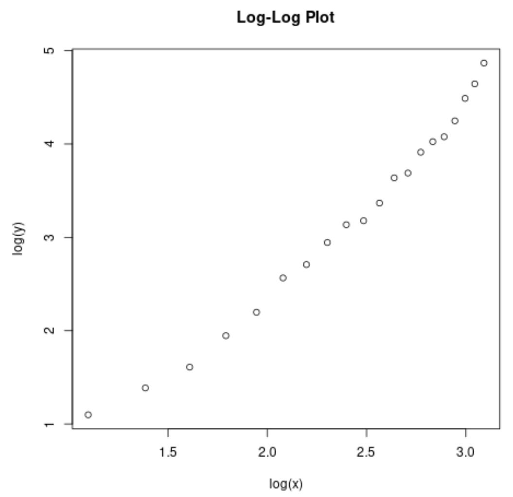 Log-log plot in base R