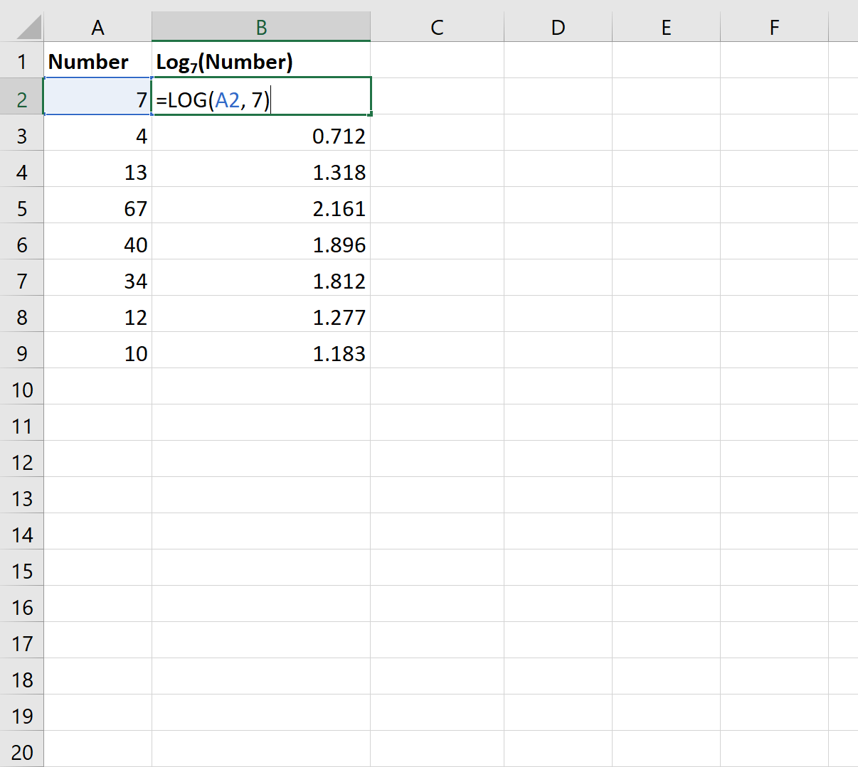 How to Find the Antilog of Values in Excel   Statology